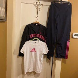 Adidas vintage track suit
